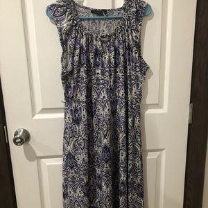 Apt 9 Kohl's Black n Purple summer dress XL
